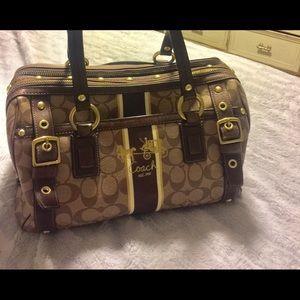 Coach Heritage Signature Zip XL Satchel  Bag